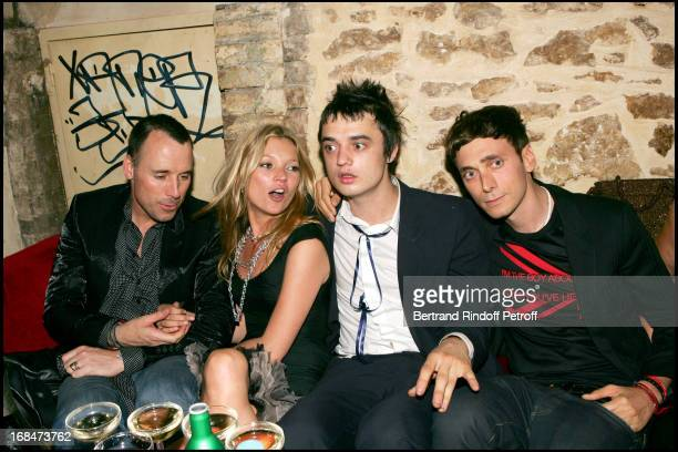 David Furnish Kate Moss Pete Doherty and Hedi Slimane at Christian Dior Men's Fashion Show Spring/Summer 2006 And Stylist Hedi Sliman's Birthday...