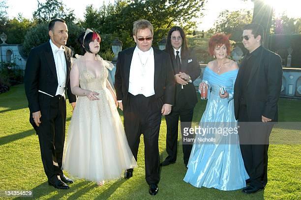 David Furnish Kelly Osbourne Sir Elton John Ozzy Osbourne Sharon Osbourne and Jack Osbourne