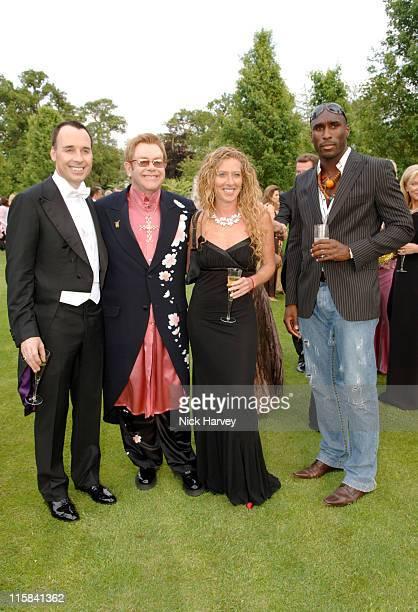 David Furnish Sir Elton John Kelly Hoppen and Sol Campbell