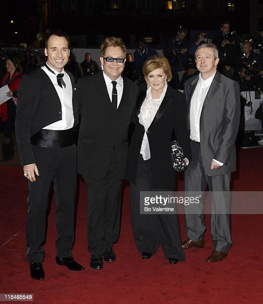 David Furnish, Sir Elton John, Sharon Osbourne and Louis Walsh