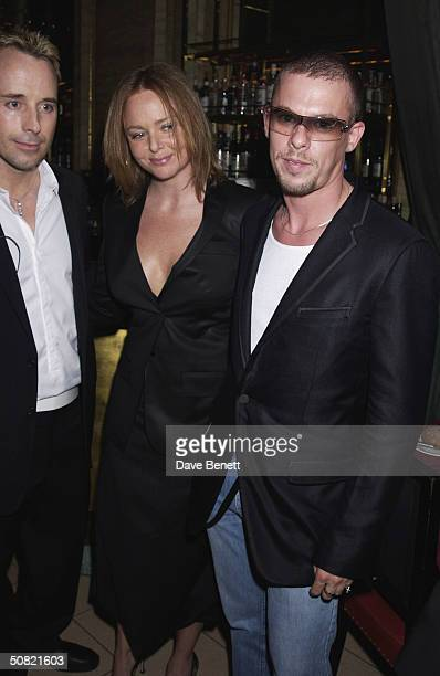 David Furnish Stella McCartney and Alexander McQueen attend the MAC Cosmetics Charity Party to support Aids in London in honour of Mary J Blige at...
