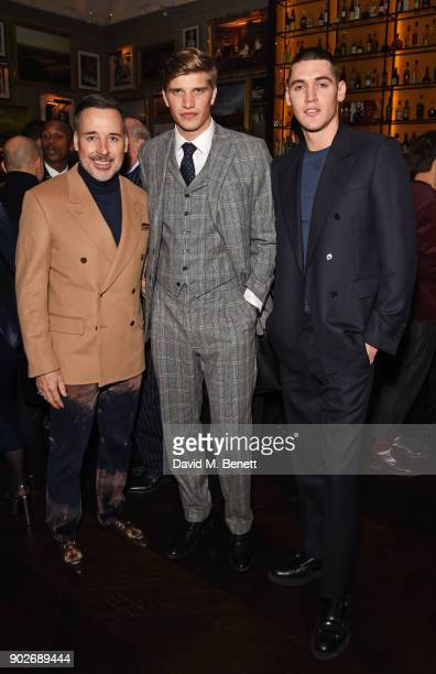 David Furnish Toby HuntingtonWhiteley and Isaac Carew attend the GQ London Fashion Week Men's 2018 closing dinner hosted by Dylan Jones and Rita Ora...