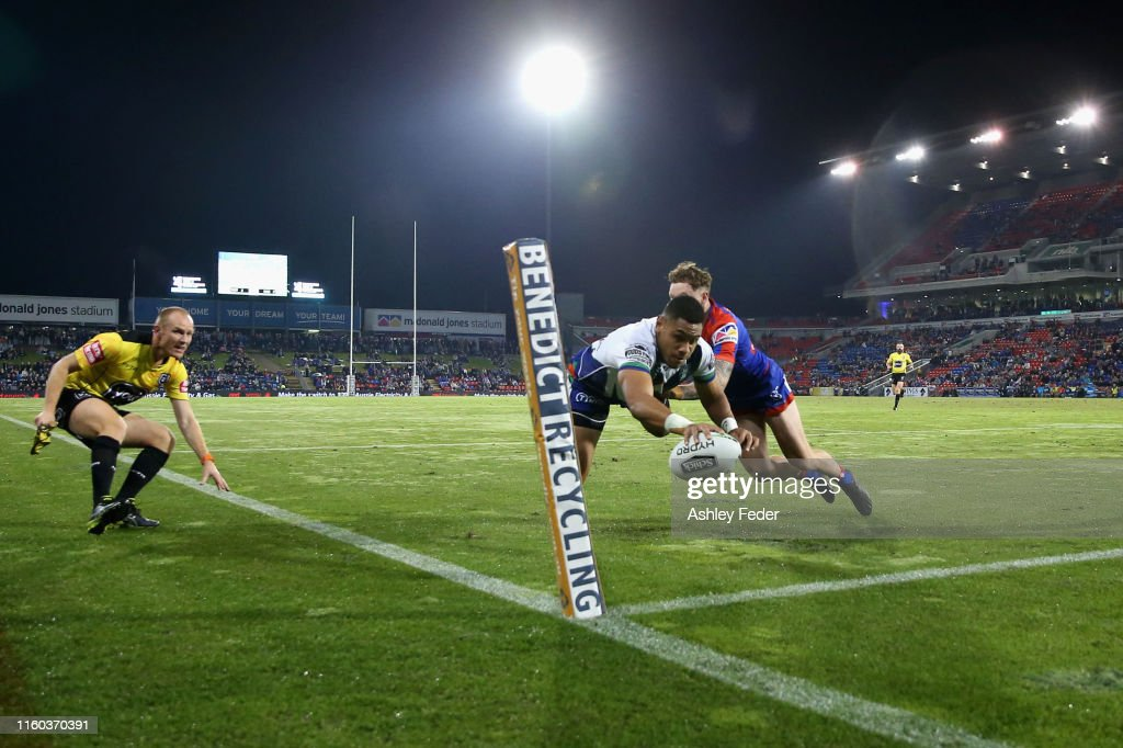 NRL Rd 16 - Knights v Warriors : News Photo