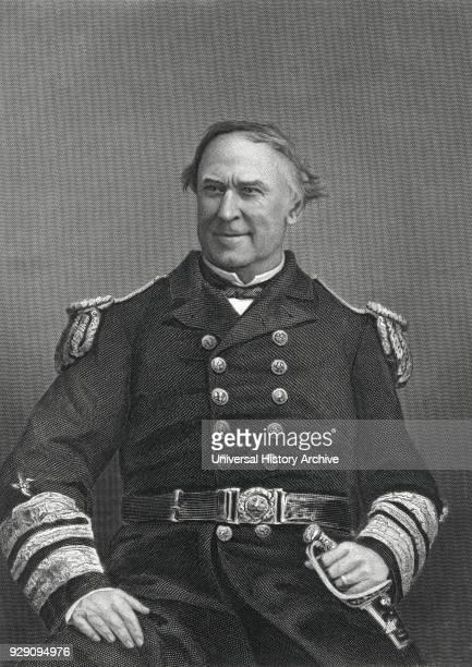 David G Farragut American Admiral US Navy Portrait late 1860's