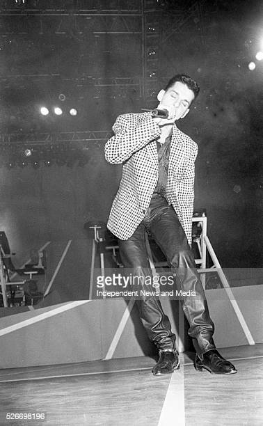 David Gahan lead singer of the band Depeche Mode on stage in the RDS 48657
