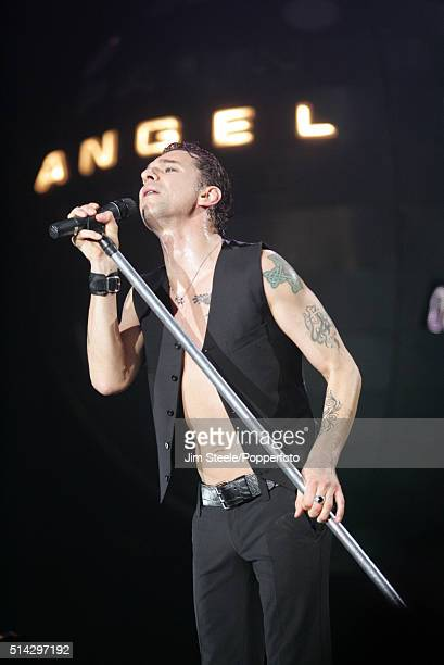 David Gahan of Depeche Mode performing during the major arena gig promoting their latest album 'Playing The Angel' at Wembley Arena on April 2, 2006...