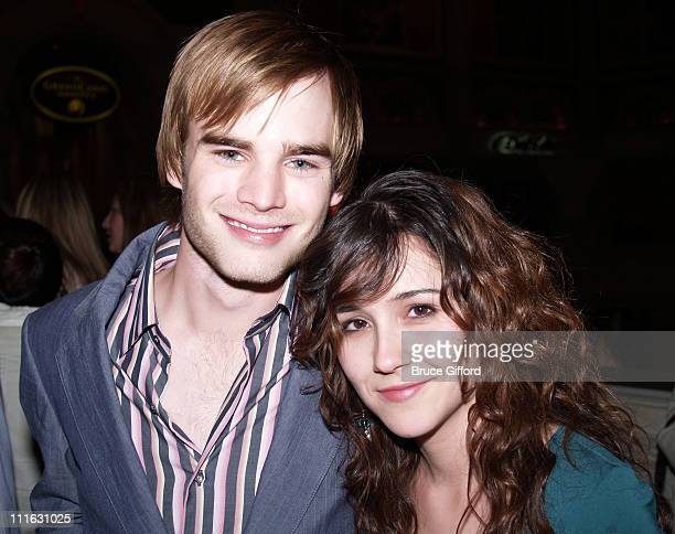 David Gallagher and girlfriend during Celebrity Birthday Celebration of David Gallagher and Kelly Hu February 11 2006 at Tao Nightclub Las Vegas in...