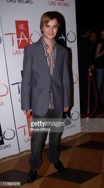 David Gallagher during Celebrity Birthday Celebration of David Gallagher and Kelly Hu February 11 2006 at Tao Nightclub Las Vegas in Las Vegas Nevada...
