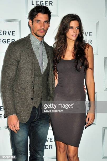 David Gandy and Chloe Pridham attend the Herve Leger launch party on September 17 2009 in London England