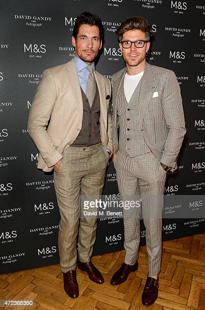 David Gandy and Darren Kennedy attend as David Gandy previews the next stage in the David Gandy for Autograph collection swimwear which is set to...