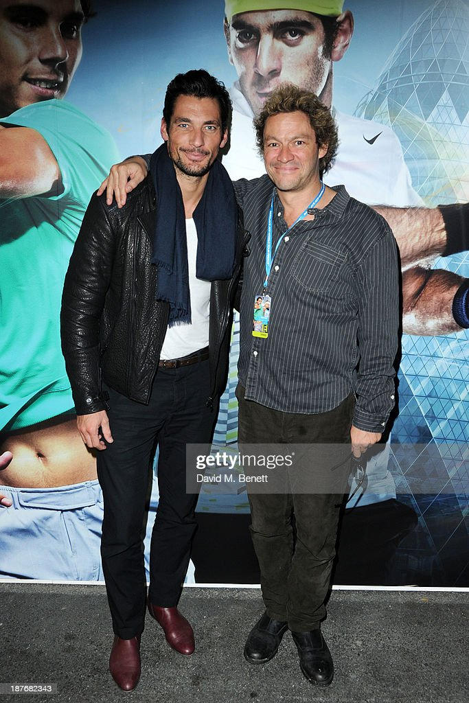 David Gandy and Dominic West attend the Lacoste VIP lounge at ATP World Finals 2013 at 02 Arena on November 11, 2013 in London, England.