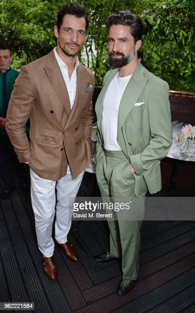 David Gandy and Jack Guinness attend a private dinner hosted by Cartier to celebrate the opening of the British Polo Season at Casa Cruz on May 24...