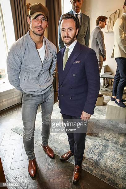 David Gandy and Jason Atherton attends the Thom Sweeney presentation during The London Collections Men SS17 at The Arts Club on June 13 2016 in...