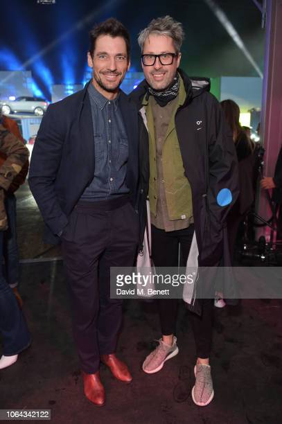 David Gandy and Larry King attend the World Premiere of the new Range Rover Evoque at The Old Truman Brewery on November 22 2018 in London England