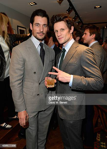 David Gandy and Matt Smith attend the opening of the new Thom Sweeney RTW & MTM Store on November 13, 2014 in London, England.