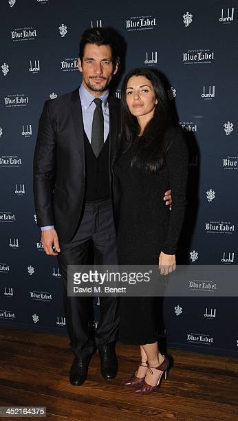 David gandy and Natalia Barbieri attends a drinks reception hosted by Ben Fogle and Bernie Shrosbree to celebrate Johnnie Walker Blue Label Alfred...