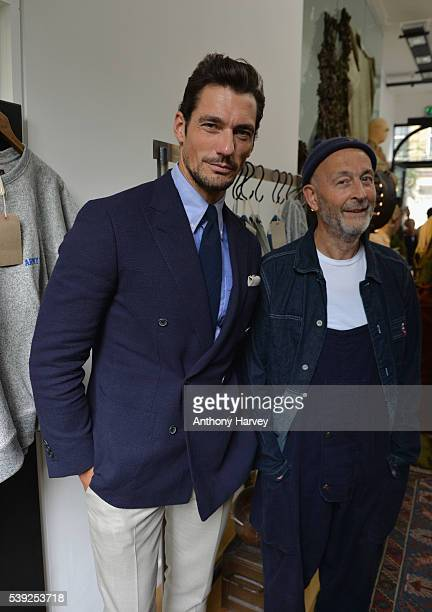 63317b0af391f7 David Gandy and Nigel Cabourn attend the Nigel Cabourn presentation during  The London Collections Men SS17. Nigel Cabourn - Backstage - LFWM June 2017