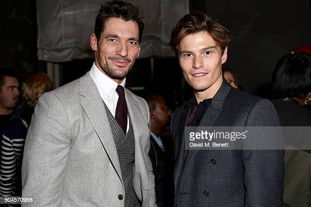 David Gandy and Oliver Cheshire attend a reception hosted by Marks Spencer and ShortList Magazine to celebrate London Collections Men AW16 at...