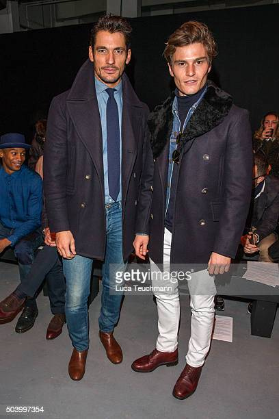 David Gandy and Oliver Cheshire attend the MAN Design Front Row during The London Collections Men AW16 at on January 8 2016 in London England