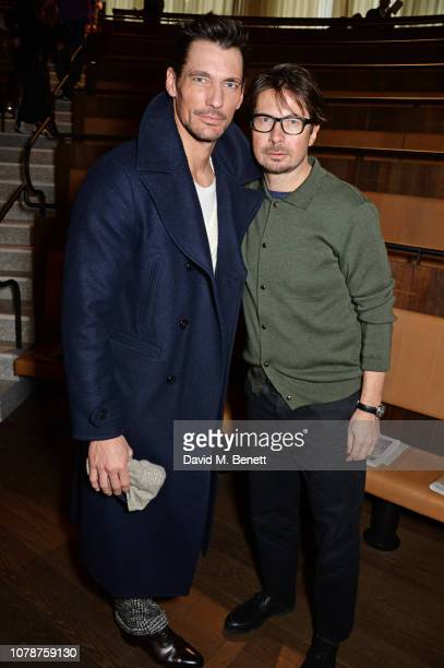 David Gandy and Oliver Spencer attend the Oliver Spencer Autumn/Winter 2019 Catwalk Show during London Fashion Week Men's January 2019 at The Royal...