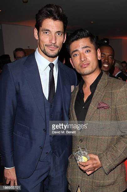 David Gandy and Pritan Ambroase attend the Launch of the Chivas deluxe blended Scotch whisky and the Savile Row Bespoke Association Partnership...