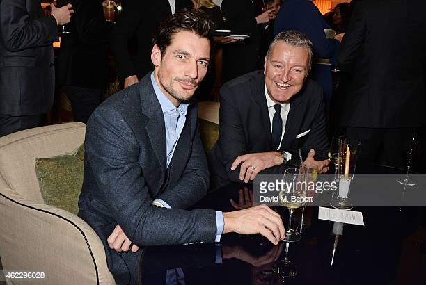 David Gandy and Richard Thompson Chairman of Debrett's attend Debrett's 500 party hosted at The Club at Cafe Royal on January 26 2015 in London...