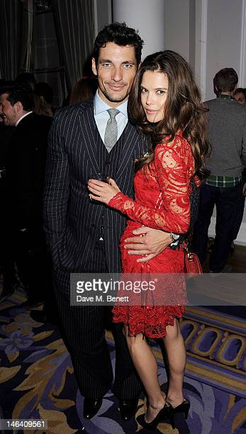 David Gandy and Sarah Ann Macklin attend the Esquire Mr Porter and Jimmy Choo party during London Collections Men at Corinthia Hotel London on June...
