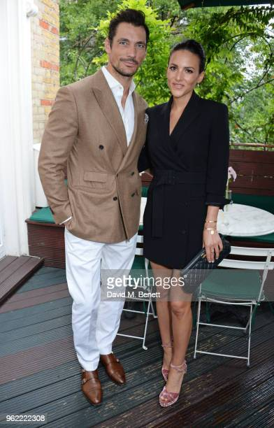 David Gandy and Stephanie Mendoros attend a private dinner hosted by Cartier to celebrate the opening of the British Polo Season at Casa Cruz on May...