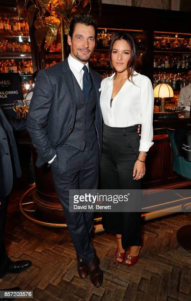 David Gandy and Stephanie Mendoros attend the MS Tailoring Talk on October 3 2017 in London England