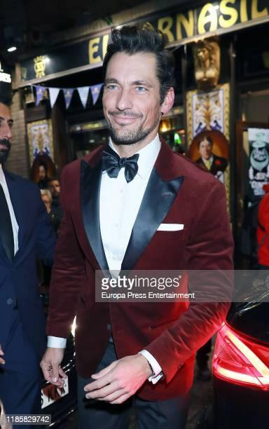 David Gandy arrives at 'Harper's Bazaar Actitud 43' awards 2019 on November 05, 2019 in Madrid, Spain.