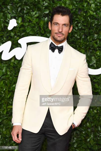 David Gandy arrives at The Fashion Awards 2019 held at Royal Albert Hall on December 02, 2019 in London, England.