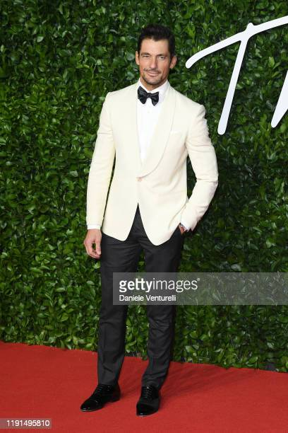 David Gandy arrives at The Fashion Awards 2019 held at Royal Albert Hall on December 02 2019 in London England