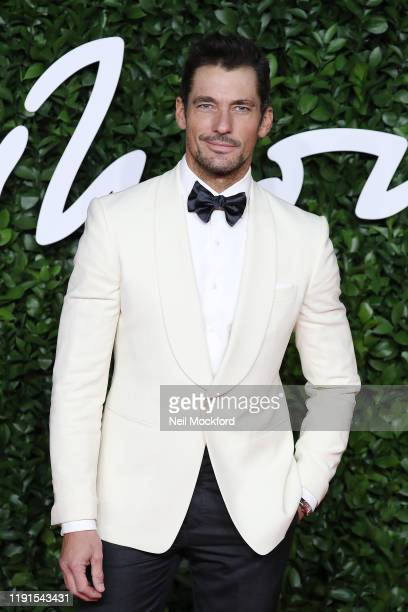 David Gandy arrives at The Fashion Awards 2019 held at Royal Albert Hall on December 02 2019 in London England