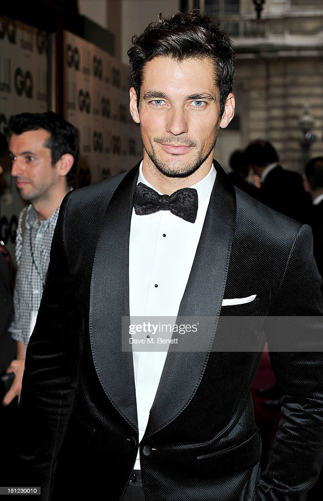 David Gandy arrives at the GQ Men Of The Year Awards 2012 at The Royal Opera House on September 4, 2012 in London, England.