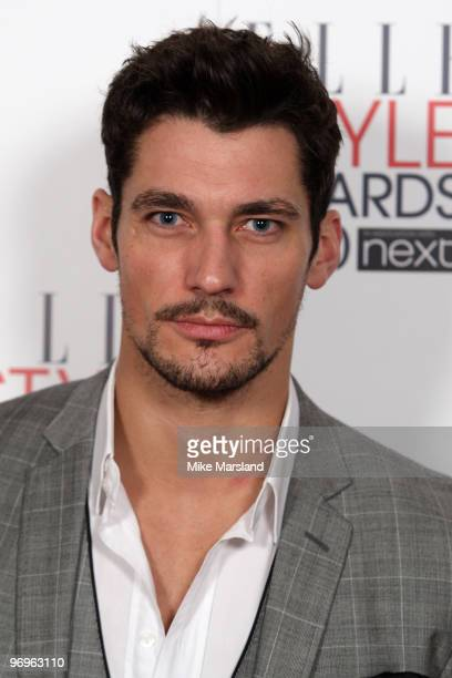 David Gandy arrives for the ELLE Style Awards 2010 at the Grand Connaught Rooms on February 22 2010 in London England