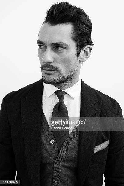 David Gandy at the London Collections Men AW15 at on January 10 2015 in London England