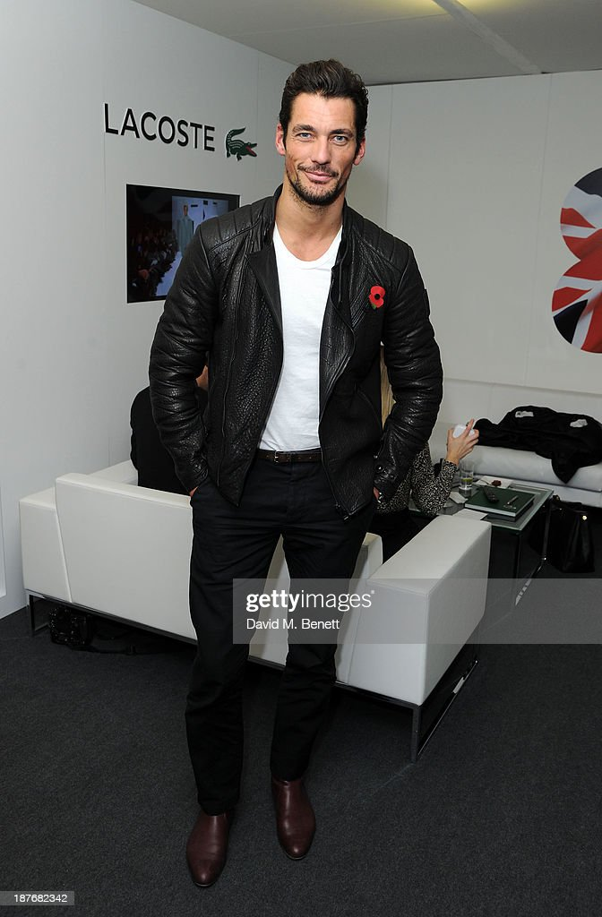 David Gandy attend the Lacoste VIP lounge at ATP World Finals 2013 at 02 Arena on November 11, 2013 in London, England.