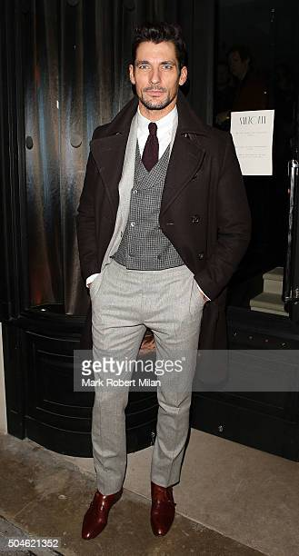 David Gandy attending the GQ Closing Dinner London Collections Men Autumn Winter 2016 on January 11 2016 in London England