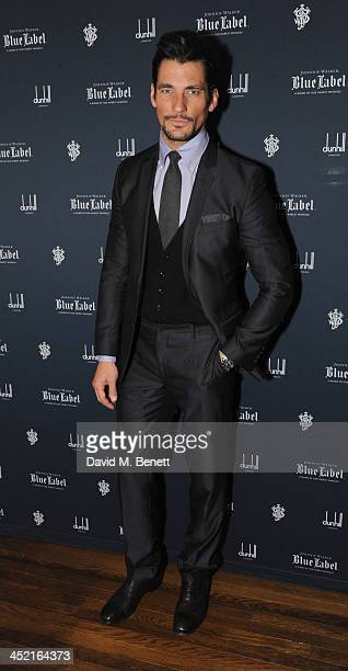 David Gandy attends a drinks reception hosted by Ben Fogle and Bernie Shrosbree to celebrate Johnnie Walker Blue Label Alfred Dunhill 'A Journey...