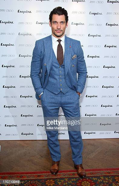 David Gandy attends a party hosted by Jimmy Choo & Esquire during the London Collections SS14 on June 16, 2013 in London, England.