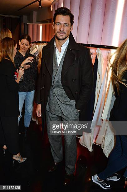 David Gandy attends a party hosted by Marks and Spencer The British Fashion Council and Alexa Chung to kick off London Fashion Week and celebrate the...