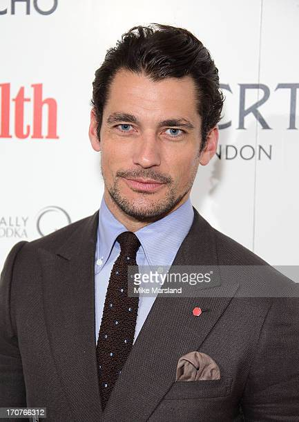 David Gandy attends a party hosted by Men's Health x Liberty x Oliver Spencer during the London Collections MEN SS14 at Liberty on June 17 2013 in...