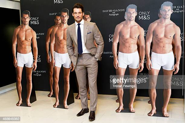 David Gandy attends a photocall to launch his collection for Marks and Spencer Autograph at M&S on September 18, 2014 in London, England.
