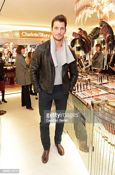 David Gandy attends Charlotte Tilbury's naughty Christmas party celebrating the launch of Charlotte's new flagship beauty boutique in Covent Garden...