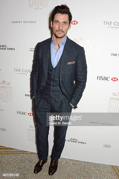 David Gandy attends Debrett's 500 party hosted at The Club at Cafe Royal on January 26 2015 in London England The Debrett's 500 recognise the most...