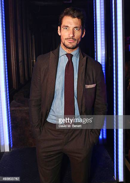 David Gandy attends Seventh Man Magazine's fifth birthday and issue 10 launch party at Tape London on October 22 2015 in London England