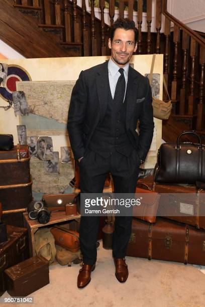 David Gandy attends 'The Aerodrome Collection By David Gandy' launch party at Aspinal Of London on April 24, 2018 in London, England.