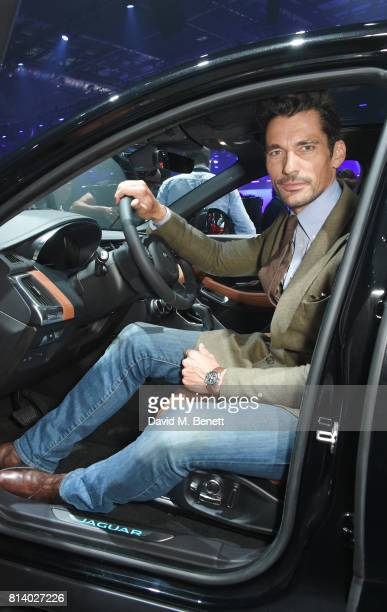 David Gandy attends the allnew Jaguar EPace reveal at ExCel on July 13 2017 in London England Jaguar's newest model was launched with an epic barrel...