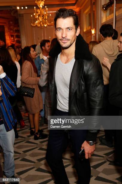 David Gandy attends the Aspinal of London Press Day on February 20 2017 in London England