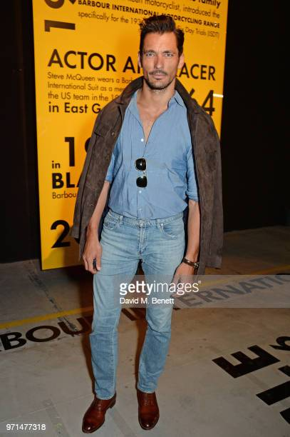David Gandy attends the Barbour International presentation during London Fashion Week Men's June 2018 at the ICA on June 11 2018 in London England